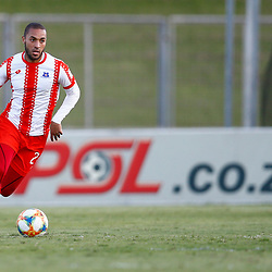 Miguel Timm of Maritzburg Utd during the Premier Soccer League (PSL) promotion play-off  match between  Royal Eagles and Maritzburg United F.C. at the Chatsworth Stadium Durban.South Africa,29,05,2019