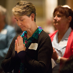 Lisa Johnston | lisajohnston@archstl.org | Twitter: @aeternusphoto<br /> <br /> Over one hundred people were commissioned as missionary disciples after completing a three-year lay formation program in the archdiocese for Catholic adults active in their parishes.  Archbishop Robert J. Carlson celebrated the Mass for the participants and their families.  Kathy Joslin from St. Anthony of Padua stood as the program graduates were recognized during Mass.