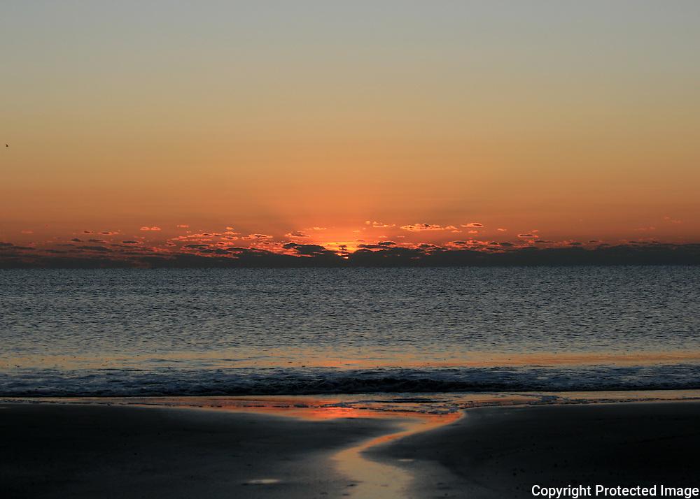 Pastel colored Jekyll Beach sunrise