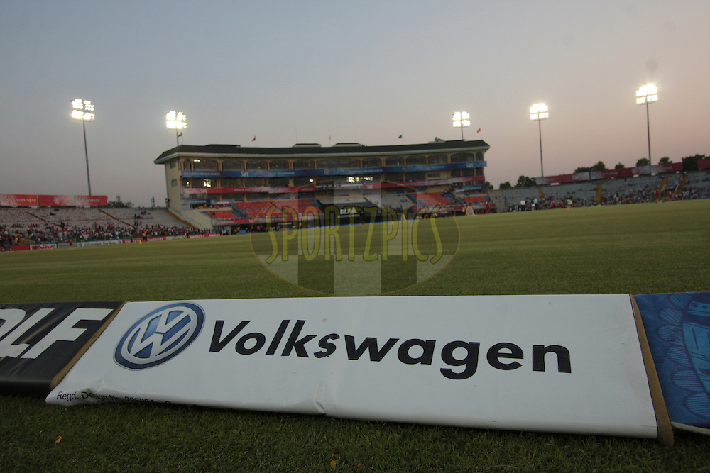 Volkswagen advt. display during match 51 of the Indian Premier League ( IPL ) Season 4 between the Kings XI Punjab and the Pune Warriors India held at the PCA stadium in Mohali, Chandigarh, India on the 8th May 2011..Photo by Anil Dayal/BCCI/SPORTZPICS