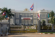 The Presidential Palace serves as a showplace for Commnist leaders in Vientiane, Laos.
