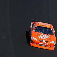 Sprint Cup Series driver Joey Logano (20) during the Daytona 500 Sprint Cup Race at Daytona International Speedway on February 20, 2011 in Daytona Beach, Florida. (AP Photo/Alex Menendez)