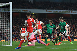 11 March 2017 - The FA Cup - (Sixth Round) - Arsenal v Lincoln City - Own goal from Luke Waterfall of Lincoln City makes it 3-0 - Photo: Marc Atkins / Offside.