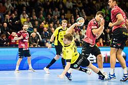 Kavcic Miha of RK Gorenje Velenje during handball match between RK Gorenje Velenje and Abanca Ademar Leon in Round #32 of EHF Cup 2019/20, 28 February, 2020 in Rdeca Dvorana, Velenje Slovenia. Photo By Grega Valancic / Sportida