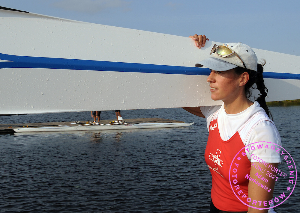 NORA FIECHTER (SWITZERLAND) FROM THE WOMEN'S DOUBLE SCULLS AFTER TRAINING SESSION ONE DAY BEFORE REGATTA EUROPEAN ROWING CHAMPIONSHIPS IN BREST, BELARUS...BREST , BELARUS , SEPTEMBER 17, 2009..( PHOTO BY ADAM NURKIEWICZ / MEDIASPORT )..PICTURE ALSO AVAIBLE IN RAW OR TIFF FORMAT ON SPECIAL REQUEST.
