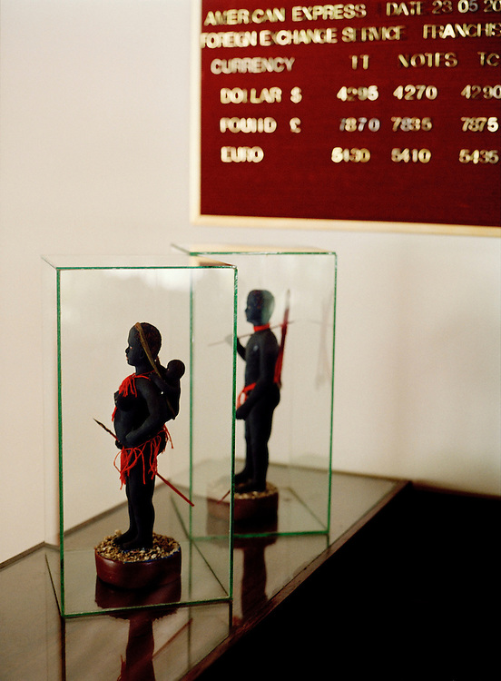 Jawara figurines at the Fortune Resort, Port Blair