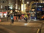 Cyclists, Aldwych, London. 28 January 2016