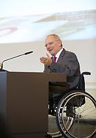 DEU, Deutschland, Germany, Berlin, 14.12.2011: <br />Bundesfinanzminister Wolfgang Schäuble (CDU) hält eine Rede bei einer Veranstaltung im Bundesfinanzministerium zum 10. Jahrestag der Euro-Bargeldeinführung.