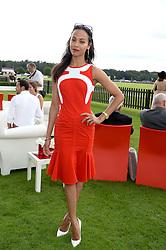 ZOE SALDANA at the Audi International Polo at Guards Polo Windsor Great Park, Egham, Surrey on 28th July 2013.