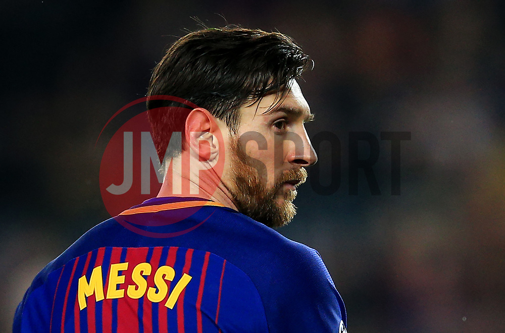 Lionel Messi of Barcelona looks on - Mandatory by-line: Matt McNulty/JMP - 14/03/2018 - FOOTBALL - Camp Nou - Barcelona, Catalonia - Barcelona v Chelsea - UEFA Champions League - Round of 16 Second Leg