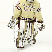 Thatcher Demko #30 of the Boston College Eagles on the ice during The Beanpot Championship Game at TD Garden on February 10, 2014 in Boston, Massachusetts. (Photo by Elan Kawesch)