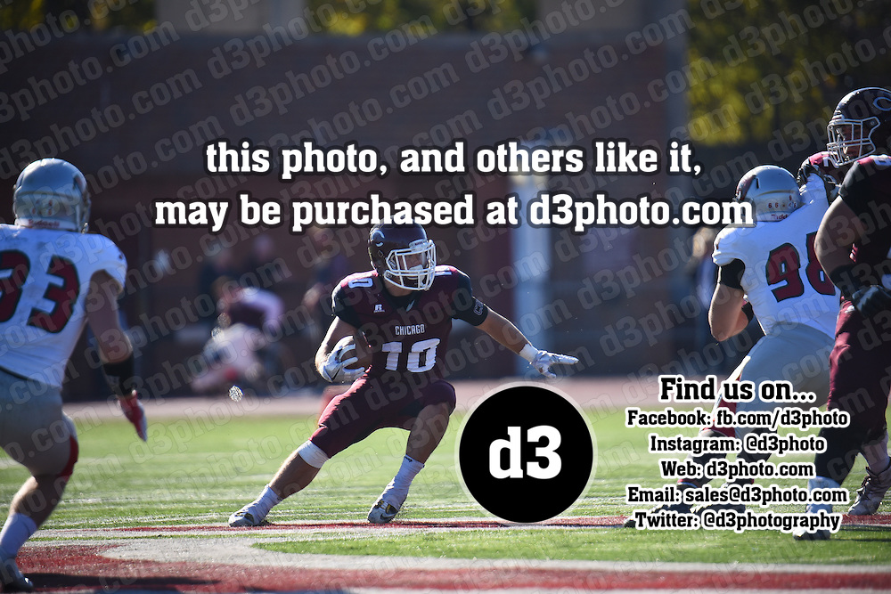 November 12,2016 - Chicago, IL,US - SAA: UChicago (CHI) vs Washington U (WSHU)  at Amos Alonzo Stagg Stadium in Chicago IL. <br /> Chicago (Maroons) put up a tough battle against the Washington U (Bears). Going back and forward taking the lead all the through the 3rd quarter. However, Washington U (Bears) proved to be just too much for Chicago (Maroons). Bears win 43-34.