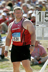 20040818 Olympics Athens 2004 Kuglestød, indledende runde på det Antikke Olympiske Stadion