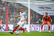 (9) Harry Kane, Slovakia (23)GK  Martin DUBRAVKA during the FIFA World Cup Qualifier match between England and Slovakia at Wembley Stadium, London, England on 4 September 2017. Photo by Sebastian Frej.