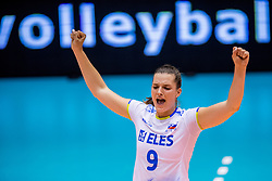 23-08-2017 NED: World Qualifications Greece - Slovenia, Rotterdam<br /> Sloveni&euml; wint met 3-0 / Iza Mlakar #9 of Slovenia