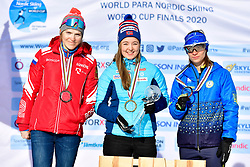 1 Nilsen, Vilde NOR LW4<br /> 2 Rumyantseva, Ekaterina RUS LW5/7<br /> 3 Liashenko, Liudmyla UKR LW8<br /> <br /> Para Nordic World Cup Finals Podiums at the 2020 ParaBiathlon World Championships, Ostersund, Sweden