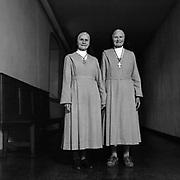 Seit 50 Jahreen gemeinsam im Kloster: wie aus zwei leiblichen Schwestern Ordensschwestern wurden, Visitandinnen-Kloster, Freiburg. Depuis 50 ans ensemble au monastËre, deux soeurs Hinder, monastËre de la visitation, Fribourg. © Romano P. Riedo