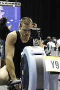 Birmingham, Great Britain,   Men's open weight Gold medalist, Gareth ARCHER, Durham ARC. Former England and Newcastle Falcon, Lock Forward, at the British Indoor Rowing Championships, National Indoor Arena, NIA,  Sun, 22.11.2009  [Mandatory Credit. Peter Spurrier/Intersport Images]