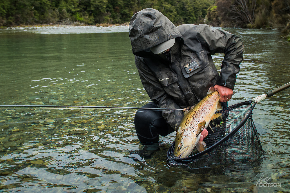 Sean Andrews from Taupo. One of two big browns taken first day.
