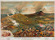 American Civil War 1861-1865. Chattanooga Campaign: Battle of Missionary Ridge, 25 November 1863. Union  forces under Grant defeated Confederate army under Bragg. Print sponsered by McCormick  Harvesting Co., 1886.