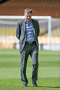 Phil Parkinson (Manager) (Bolton Wanderers) inspects the pitch and is in a reflective mood before the EFL Sky Bet League 1 match between Port Vale and Bolton Wanderers at Vale Park, Burslem, England on 22 April 2017. Photo by Mark P Doherty.