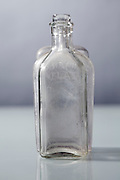 old clear glass bottles