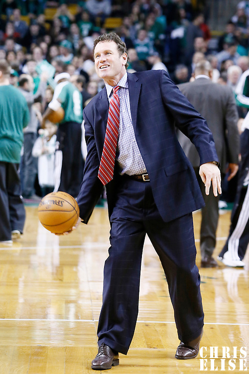 09 January 2013: Phoenix assistant coach Dan Majerle is seen prior to the Boston Celtics 87-79 victory over the Phoenix Suns at the TD Garden, Boston, Massachusetts, USA.