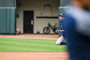 "Baltimore, Maryland - June 25, 2018: Seattle Mariners star Ichiro Suzuki has fun rounding the bases after his first flight of batting practice before the Mariners played the Orioles at Camden Yards in Baltimore Monday June 25, 2018.<br /> <br /> <br /> Seattle Mariners star Ichiro Suzuki goes through all the pre-game warm ups like any position player on the Seattle Mariners, before their game against the Baltimore Orioles at Camden Yard Monday June 25th  -- except his current position is ""Special Assistant to the Chairman,"" in the ball club's front office.<br /> He does everything an active player does except play. His new position in management forbids him from being in the dugout during game play, so he soaks up as much time with the players before the first pitch. <br /> <br /> CREDIT: Matt Roth for The New York Times<br /> Assignment ID: 30221475A"