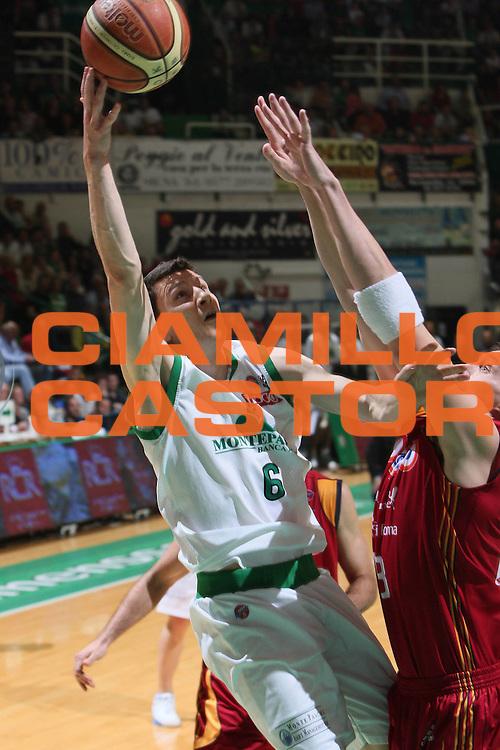 DESCRIZIONE : Siena Lega A1 2007-08 Playoff Finale Gara 2 Montepaschi Siena Lottomatica Virtus Roma <br /> GIOCATORE : Vlado Ilievski<br /> SQUADRA : Montepaschi Siena<br /> EVENTO : Campionato Lega A1 2007-2008 <br /> GARA : Montepaschi Siena Lottomatica Virtus Roma <br /> DATA : 05/06/2008 <br /> CATEGORIA : Tiro<br /> SPORT : Pallacanestro <br /> AUTORE : Agenzia Ciamillo-Castoria/G.Ciamillo