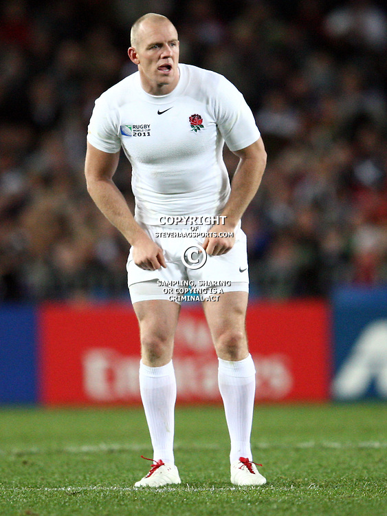 AUCKLAND, NEW ZEALAND - OCTOBER 01, Mike Tindall during the 2011 IRB Rugby World Cup match between England and Scotland at Eden Park on October 01, 2011 in Auckland, New Zealand<br /> Photo by Steve Haag / Gallo Images