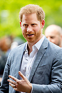 Prince Harry watch sports during the presentation of the Invictus Games The Hague 2020. In exactly one year, the sporting event for physically and mentally wounded soldiers will be held in Zuiderpark in The Hague. robin utrecht