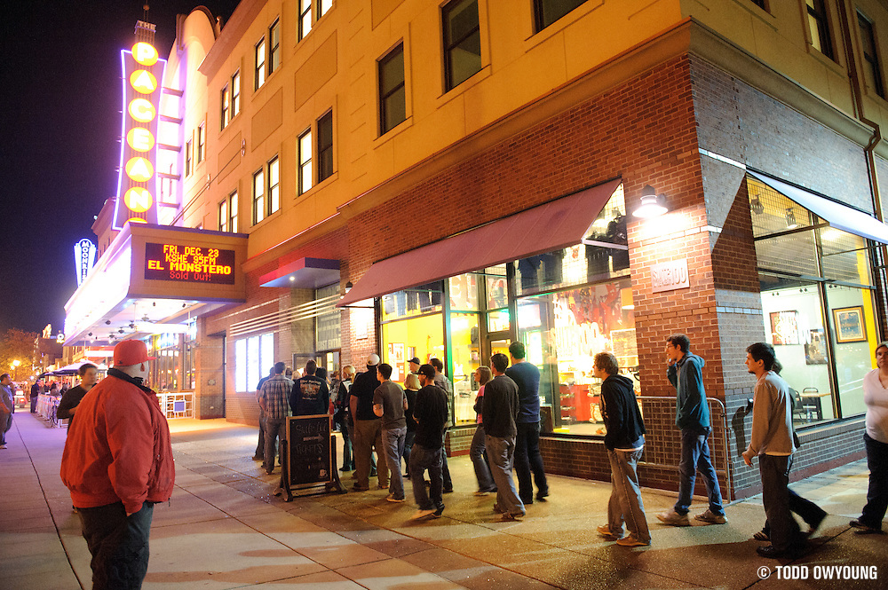 Fans lining up to enter the Pageant for The Urge's union show on November 11, 2011.