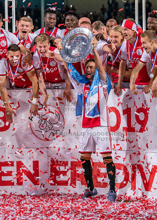 15-05-2019 NED: De Graafschap - Ajax, Doetinchem<br /> Round 34 / It wasn't really exciting anymore, but after the match against De Graafschap (1-4) it is official: Ajax is champion of the Netherlands / Nicolas Tagliafico #31 of Ajax