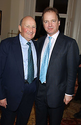 Left to right, DONALD GORDON and HUGO SWIRE  at a Conservative Party Reception for the Art held at 24 Thurloe Square, Lndon SW7 on 5th April 2005.<br /><br />NON EXCLUSIVE - WORLD RIGHTS