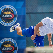 August 20, 2016, New Haven, Connecticut: <br /> Cameron Silverman in action during a US Open National Playoffs match at the 2016 Connecticut Open at the Yale University Tennis Center on Saturday, August  20, 2016 in New Haven, Connecticut. <br /> (Photo by Billie Weiss/Connecticut Open)