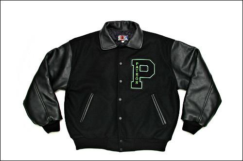 Photo of Patron Tequila letterman's jacket for www.patrontequila.com e-commerce site.  Taken November, 2004.