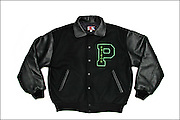 Photo of Patron Tequila letterman's jacket for www.patrontequila.com e-commerce site.  Taken November, 2004.