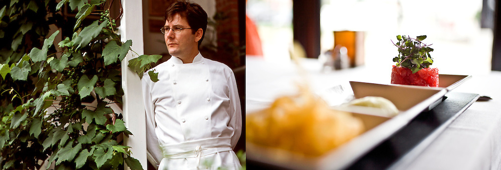 client: Charlie Trotter, Chicago, IL (left), Monarch Restaurant, St. Louis, MO (right)