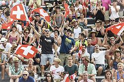 July 7, 2017 - Gstaad, BE, Schweiz - Gstaad, 07.07.2017, Beachvolleyball - World Tour Gstaad 2017, Anouk Verge-Depre (1, SUI) und Joana Heidrich (2,SUI) (Credit Image: © Melanie Duchene/EQ Images via ZUMA Press)