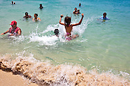 Swimming at Guadalavaca, Holguin, Cuba.
