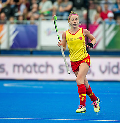 Spain's Berta Bonastre. Germany v Spain - 3rd/4th Playoff Unibet EuroHockey Championships, Lee Valley Hockey & Tennis Centre, London, UK on 30 August 2015. Photo: Simon Parker