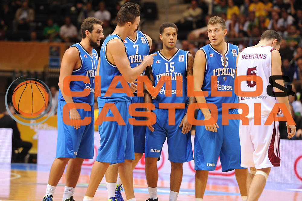 DESCRIZIONE : Siauliai Lithuania Lituania Eurobasket Men 2011 Preliminary Round Italia Lettonia Italy Latvia<br /> GIOCATORE : Stefano Mancinelli Daniel Hackett<br /> SQUADRA : Italia Italy<br /> EVENTO : Eurobasket Men 2011<br /> GARA : Italia Lettonia Italy Latvia<br /> DATA : 02/09/2011 <br /> CATEGORIA : ritratto<br /> SPORT : Pallacanestro <br /> AUTORE : Agenzia Ciamillo-Castoria/GiulioCiamillo<br /> Galleria : Eurobasket Men 2011 <br /> Fotonotizia : Siauliai Lithuania Lituania Eurobasket Men 2011 Preliminary Round Italia Lettonia Italy Latvia<br /> Predefinita :