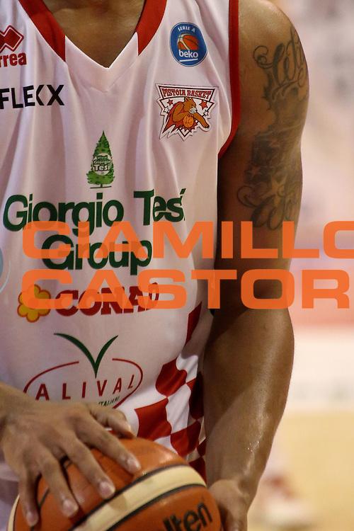 DESCRIZIONE : Campionato 2015/16 Giorgio Tesi Group Pistoia - Umana Reyer Venezia<br /> GIOCATORE : Blackshear Wayne<br /> CATEGORIA : Tatuaggio<br /> SQUADRA : Giorgio Tesi Group Pistoia<br /> EVENTO : LegaBasket Serie A Beko 2015/2016<br /> GARA : Giorgio Tesi Group Pistoia - Umana Reyer Venezia<br /> DATA : 23/12/2015<br /> SPORT : Pallacanestro <br /> AUTORE : Agenzia Ciamillo-Castoria/S.D'Errico<br /> Galleria : LegaBasket Serie A Beko 2015/2016<br /> Fotonotizia : Campionato 2015/16 Giorgio Tesi Group Pistoia - Umana Reyer Venezia<br /> Predefinita :