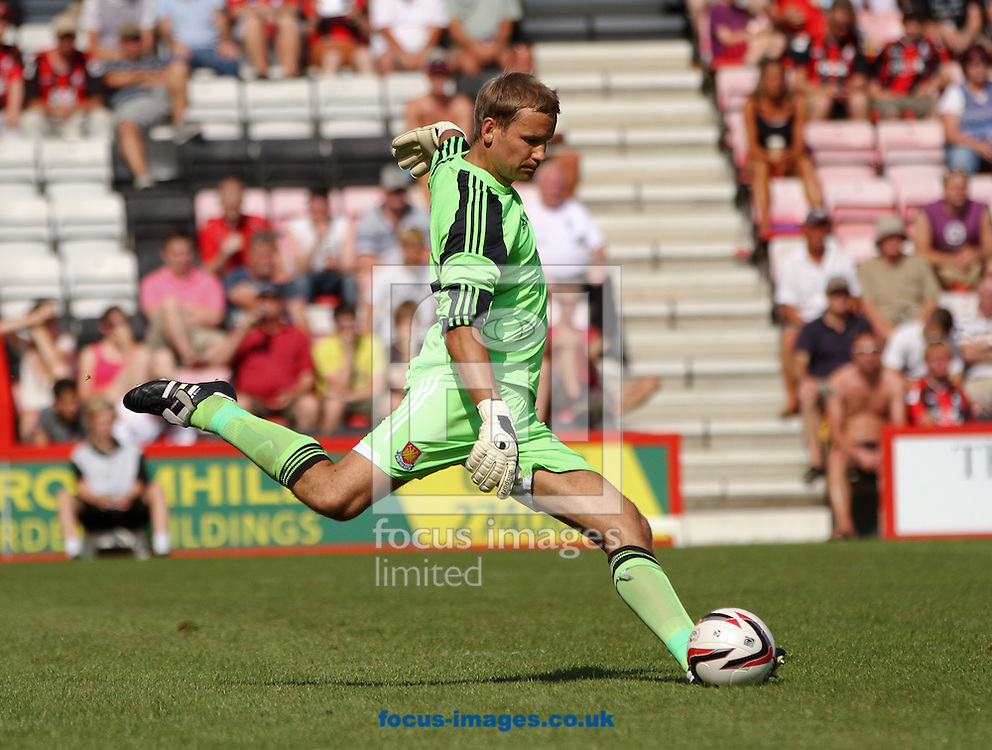 Picture by Tom Smith/Focus Images Ltd 07545141164<br /> 13/07/2013<br /> Jussi Jaaskelainen of West Ham United during the Stephen Purches testimonial pre season friendly match at the Seward Stadium, Bournemouth.