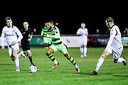 Forest Green Rovers Dan Wishart(17) runs forward during the FA Trophy match between Truro City and Forest Green Rovers at Treyew Road, Truro, United Kingdom on 13 December 2016. Photo by Shane Healey.