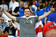 England fan during the Round of 16 Euro 2016 match between England and Iceland at Stade de Nice, Nice, France on 27 June 2016. Photo by Andy Walter.