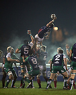 Gregor Gillanders just about collects this line-out during the British &amp; Irish Cup match between London Scottish &amp; Connacht Eagles at Richmond, Greater London on Friday 29th November 2014<br /> <br /> Photo: Ken Sparks | UK Sports Pics Ltd<br /> London Scottish v Connacht Eagles, British &amp; Irish Cup,29th November 2014<br /> <br /> &copy; UK Sports Pics Ltd. FA Accredited. Football League Licence No:  FL14/15/P5700.Football Conference Licence No: PCONF 051/14 Tel +44(0)7968 045353. email ken@uksportspics.co.uk, 7 Leslie Park Road, East Croydon, Surrey CR0 6TN. Credit UK Sports Pics Ltd