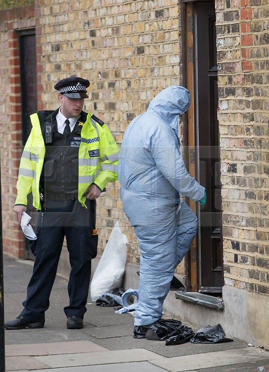 FILE PICTURE © Licensed to London News Pictures. 21/09/2017. London, UK. A police forensics officer enters a house belonging to Sabrina Kouider and her partner Ouissem Medouni where police and the fire brigade attended and found the burnt body of their nanny Sophie Lionnet in the garden in Wimbledon, south London. Kouider and Medouni, who are both French nationals, deny murder but have admitted perverting the course of justice by burning the body. Photo credit: Peter Macdiarmid/LNP