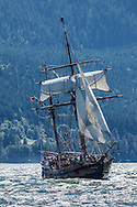 USA, Oregon, Hood River,  Hawaiian Chieftain  of the Grays Harbor Historical Seaport Authority.