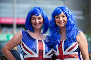 Great Britain fans outside the Emirates Arena before the 2016 Davis Cup Semi Final between Great Britain and Argentina at the Emirates Arena, Glasgow, United Kingdom on 17 September 2016. Photo by Craig Doyle.